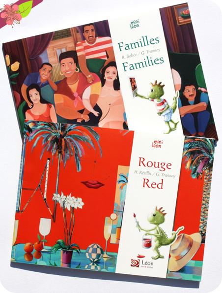 Rouge/Red et Familles/Families - collection Mini Léon - Léon art & stories