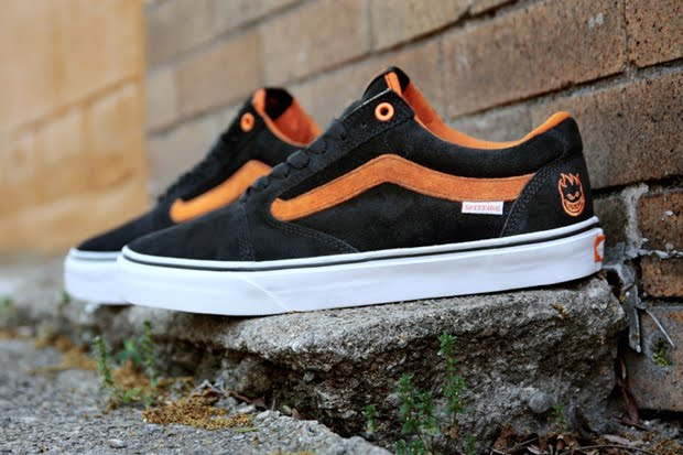 a07ff93601bef7 for the collab between spitfire and fans the design team chose a black and  orange suede colorway accented by a clean white sole for the  collaboration.extra ...