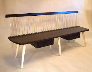 windsor bench, Mid Century Modern Bench