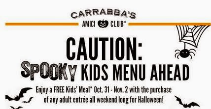 Kids Eat Free Carrabas