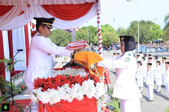 Upacara HUT RI ke 73 Prabumulih, Berlangsung Khidmad