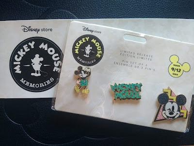 Set 9 September's Mickey Mouse Memories pins