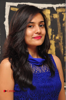 Actress Radha Pictures in Blue Short Dress at talabbayi Audio Launch  0001