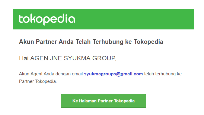 Pembayaran TOKOPEDIA via Agen JNE SYUKMA GROUP
