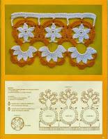 Lindo Bico de Crochê Com Flores - Gráfico