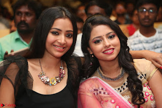 Geethanjali and Swetha Basu at Mixture Potlam Movie Audio Launch Feb 2017 007.JPG