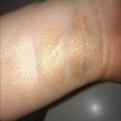 Becca Champagne Pop v Moonstone Opal swatch