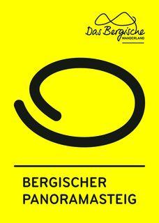 Ein schwarzer Kreis auf gelbem Grund