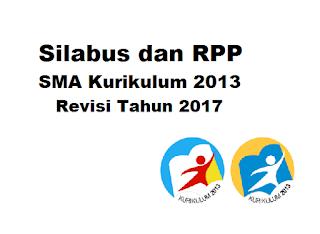 Contoh Silabus dan RPP SMA Kurikulum 2013 Revisi 2017