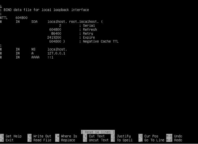 Tampilan awal sebelum konfigurasi file FORWARD