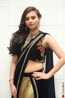 Priyanka Ramana in Beautiful Designer Black Saree At We Craft Elegance Expo Launch 030.JPG