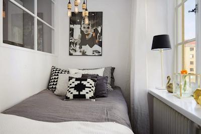 Garsonieră de 31 m² cu pat amenajat lângă bucătărie