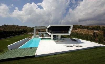 rumah dengan tema futuristik kontemporer