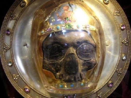 Relic; Saint John the Baptist's Head  Amiens Cathedral, France.
