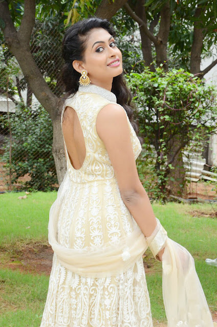 Nithya Menon in White Anarkali
