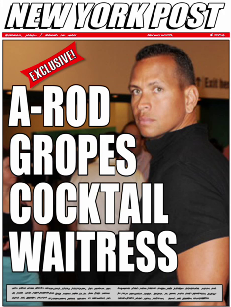alex rodriguez gropes cocktail waitress