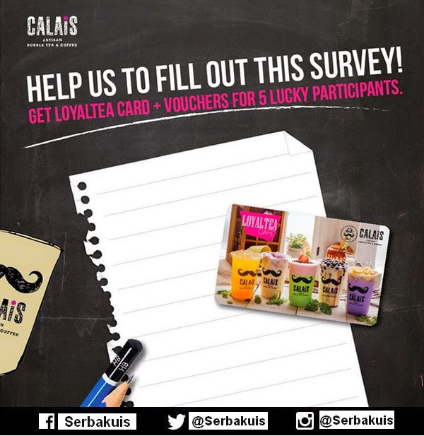 Kuis Survey Calais Tea Hadiah 5 Loyaltea Card+Voucher