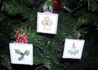 Memory glass ornaments
