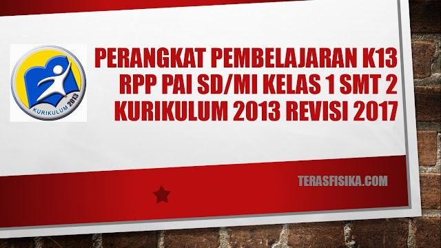 RPP SD/MI Kelas 1 Kurikulum 2013 Revisi 2017 Semester 2