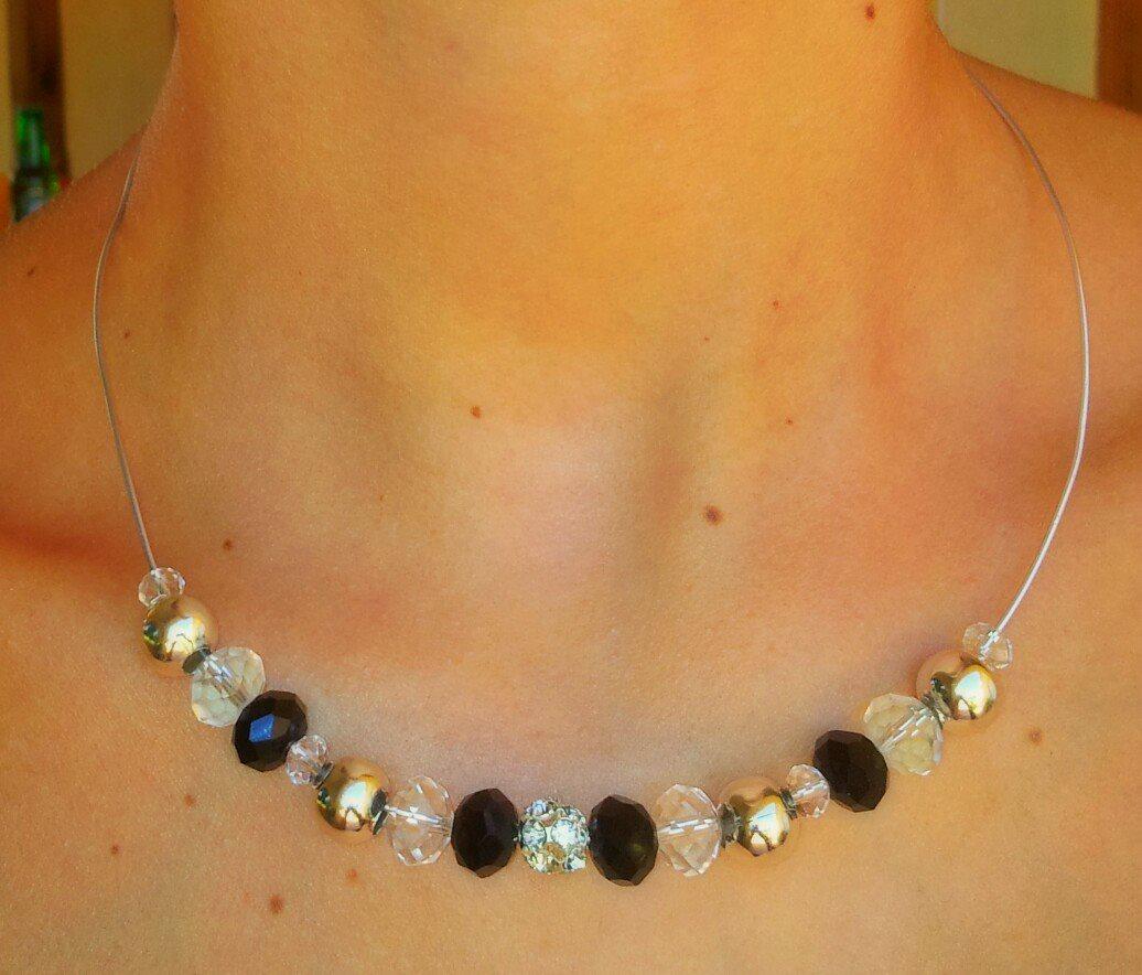 48d5e4d34029 ILLUSIONS  MODELO 90 Collar con alambre y abalorios brillantes