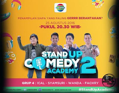 Wanda Medan Gantung Mic Stand Up Comedy Academy ( SUCA ) 2, 17 Besar, Grup 4