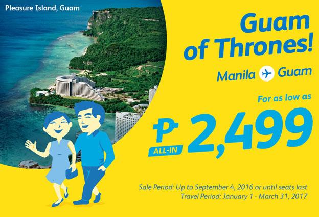 Cebu Pacific Promo Fare Manila to Guam 2017