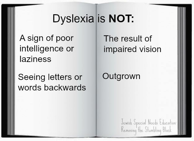Dyslexia is NOT; Removing the Stumbling Block