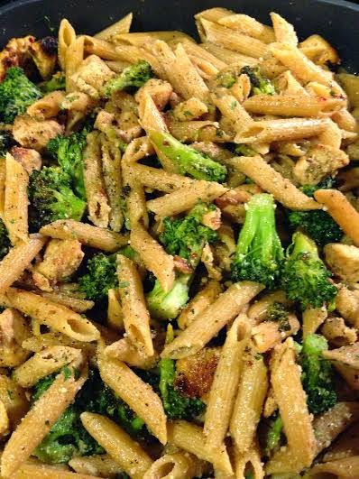Four Cheese Chicken And Broccoli Pasta