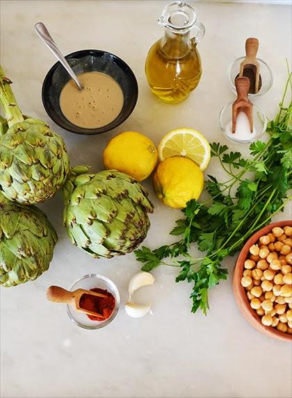 Artichoke Hummus - recipe - shewandersshefinds.com