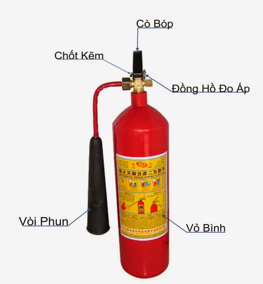Bình chữa cháy khí CO2  - Xách tay MT5