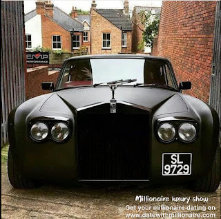 The black Rolls-Royce retro sedan appeared in a small town in Europe