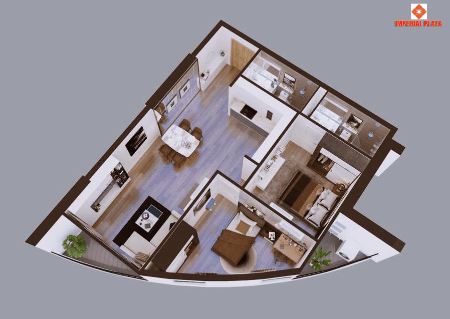 Thiết kế chi tiết căn hộ A1 dự án Sky View Plaza