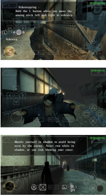 Game Tenchu Shadow Assassins ISO CSO PSP Android