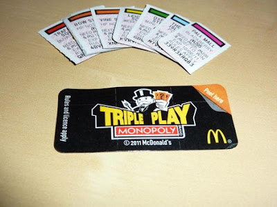 mcdonalds instant win monopoly rules