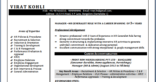 cv templates in word