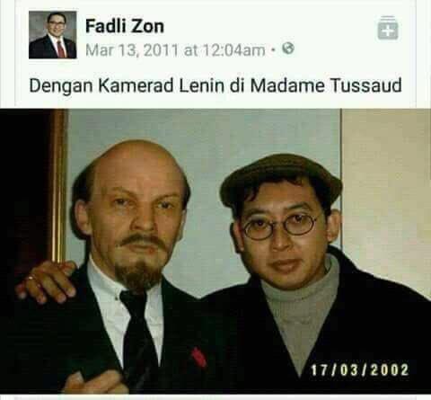 Fotonya Bersama Tokoh Komunis Tersebar Luas, Lihat Reaksi Ngeles Fadli Zon