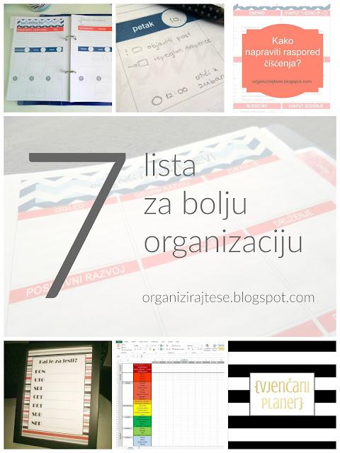 7 lista za bolju organizaciju
