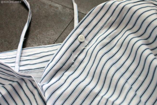 Japanese Fashion Blogger,Mizuho K,6月に買ったモノ,SheIn-ブルーストライプ3Wayシャツ