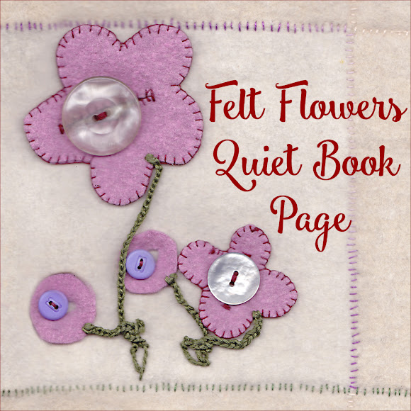 Felt Flowers Quiet Book Page