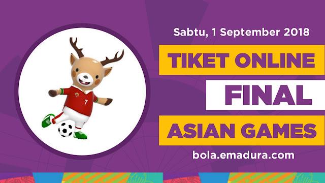 Gambar Tiket online final sepakbola Asian Games 2018