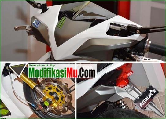 Ubahan Body Simpel Knalpot Mengikuti Gaya CBR 250 R - Cara Modifikasi All New Honda Beat PGM FI Putih Simpel Futuristik.jpg