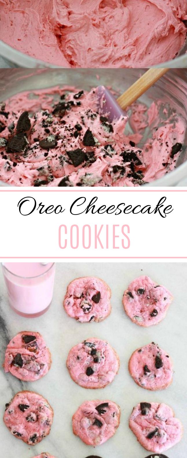 Oreo Cheesecake Cookies #pink #cookies