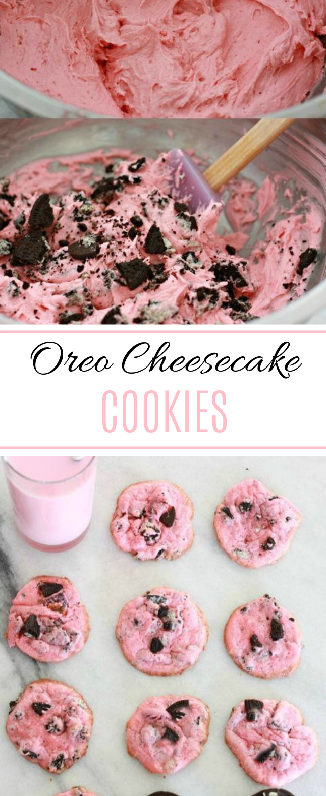 Oreo Cheesecake Cookies #cookies #easy