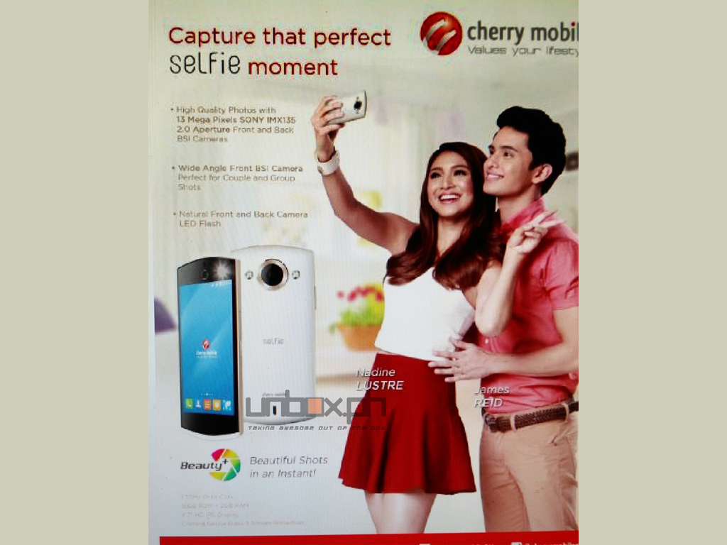 Cherry Mobile Selfie: 4.7-inch Octa-core Smartphone With 13MP Sony IMX135 Cameras