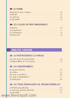 Grammaire et analyse : Analyse grammaticale et analyse logique pdf gratuit