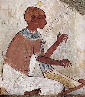 El arpista - Fresco en una tumba egipcia