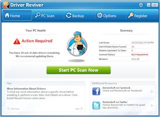 تنزيل برنامج جلب التعريفات من النت مع التفعيل Driver Reviver