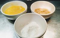 Ginger garlic paste, Corn starch and beaten egg  for curry leaves fried chicken recipe