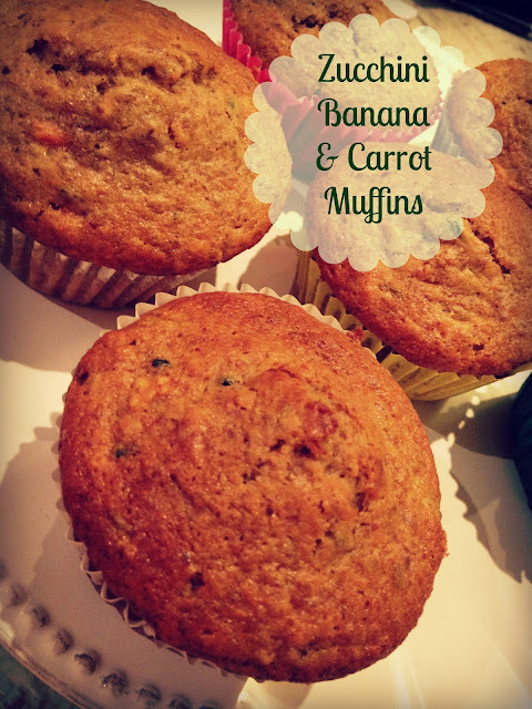 Muffins, Recipe, Say G'Day Linky Party, Say G'Day Saturday Linky Party, Zucchini, Banana and Carrot Muffins, healthy, LSA