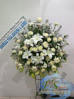 ragkaian bunga standing flower krisan